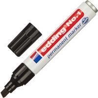 Маркер перманентный Edding E-1/1 черный (толщина линии 1-5 мм) скошенный наконечник