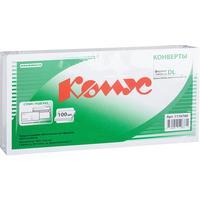 Конверт Комус Е65 80 г/кв.м Куда-Кому белый стрип с внутренней запечаткой (100 штук в упаковке)
