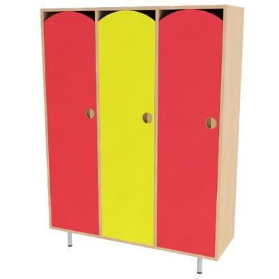 Шкаф для одежды детский трехсекционный (разноцветный, 1072х320х1340 мм)