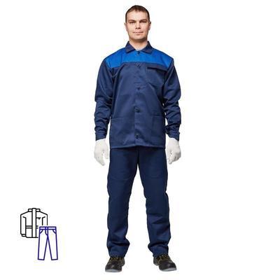 Костюм рабочий летний мужской л08-КБР синий/васильковый (размер 52-54, рост 170-176)