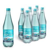 Вода минеральная Нарзан газированная 1 л (6 штук в упаковке)