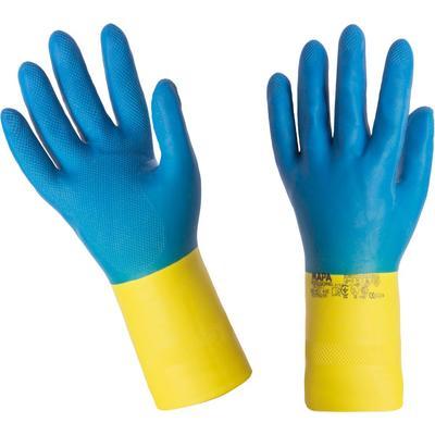 Перчатки Mapa Alto/Duo-Mix 405 из неопрена и латекса синие/желтые (размер 9, L, пер493009)