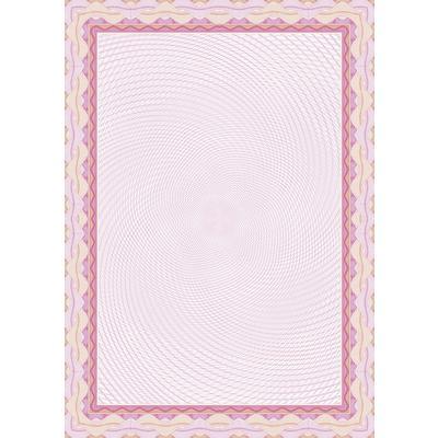 Сертификат-бумага Decadry красная рамка  (А4, 115 г/кв.м, 25 листов в упаковке)