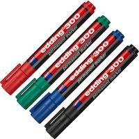 Набор маркеров перманентных Edding E-300 4 цвета (толщина линии 1,5-3 мм) круглый наконечник