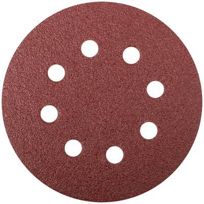 Круг шлифовальный с отверстиями 5 шт. (липучка 125 мм, Р60) FIT (39663)