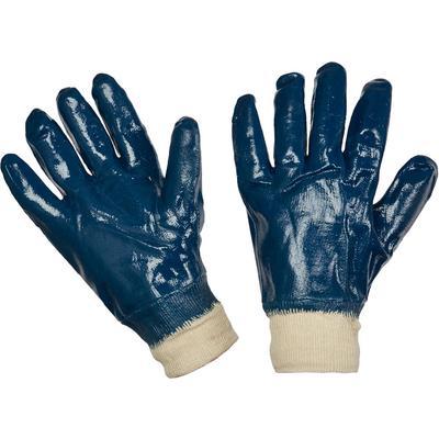 Перчатки рабочие трикотажные хб с полным нитриловым покрытием (манжета резинка)