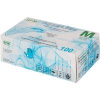 Перчатки медицинские смотровые латексные SFM нестерильные опудренные размер M (100 штук в упаковке)