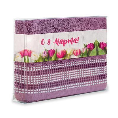 Полотенце махровое С.Барбара 50х90 см 500 г/кв.м розовое