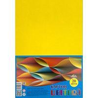 Картон цветной Апплика (А4, 20 листов, 1 цвет, немелованный, С2672-02)