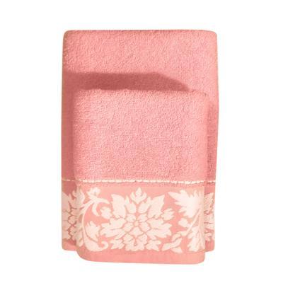 Набор полотенец махровых Муза 50x90 см 1 штука 70x130 см 1 штука 400 г/кв.м розовый