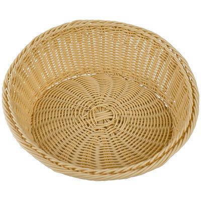 Корзина для хлеба Gastrorag плетеная круглая пластиковая диаметр 31 см высота 12/5 см