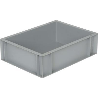 Ящик (лоток) универсальный полипропиленовый 400х300х120 мм серый