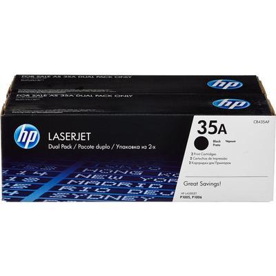 Картридж лазерный HP 35A CB435AD/AF черный оригинальный (двойная упаковка)