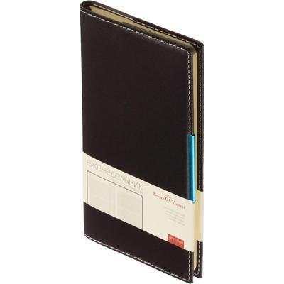 Еженедельник недатированный Bruno Visconti Metropol искусственная кожа A6 80 листов черный (102x177 мм)