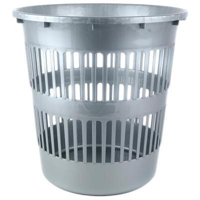 Корзина для мусора 10 л пластик серая (28.5х28 см)