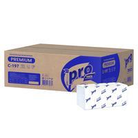 Полотенца бумажные листовые Protissue V-сложения 2-слойные 20 пачек по 200 листов (артикул производителя C197)