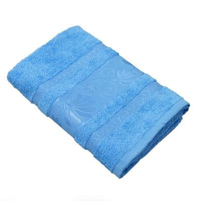 Полотенце махровое Belezza Капелла 70x130 см 400 г/кв.м голубое 5 штук в упаковке