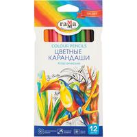 Карандаши цветные Гамма Классические 12 цветов шестигранные
