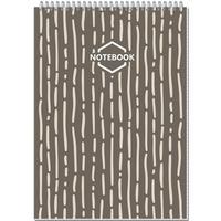 Блокнот Полином Стильный офис A4 80 листов коричневый в клетку на спирали (203x290 мм)