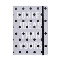 Ежедневник датированный 2021 год InFolio Dots картон A5 176 листов серый (140x200 мм)