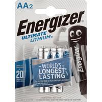 Батарейки Energizer Ultimate Lithium пальчиковые AA LR6 (2 штуки в упаковке)