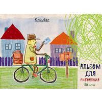 Альбом для рисования Kroyter Почтальон А5 60 листов