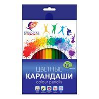 Карандаши цветные Луч Классика 18 цветов шестигранные