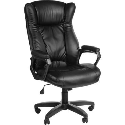 Уценка. Кресло для руководителя Адмирал черное (искусственная кожа/пластик) уц_меб