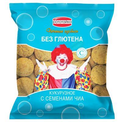 Печенье сдобное Рототайка кукурузное с семенами чиа без глютена на сорбите 200 г