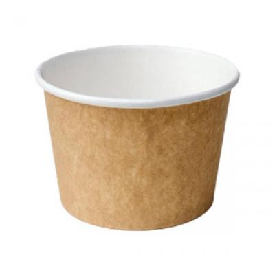 Контейнер бумажный Huhtamaki для супа 400 мл коричневый (25 штук в упаковке)