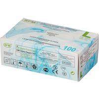 Перчатки медицинские смотровые латексные SFM нестерильные опудренные размер L (100 штук в упаковке)