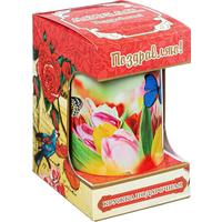 Чай подарочный Abigail С Праздником листовой черный 50 г (с керамической кружкой 300 мл)