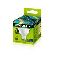 Лампа светодиодная Ergolux 7 Вт GU5.3 спот 6500 К холодный белый свет