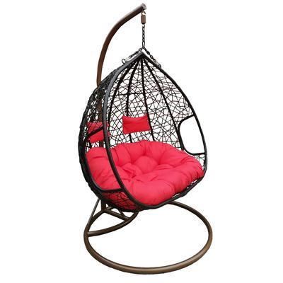 Кресло подвесное Феникс коричневое (искусственный ротанг/сталь)