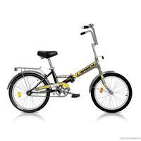 Велосипед Larsen Way (черный/желтый)