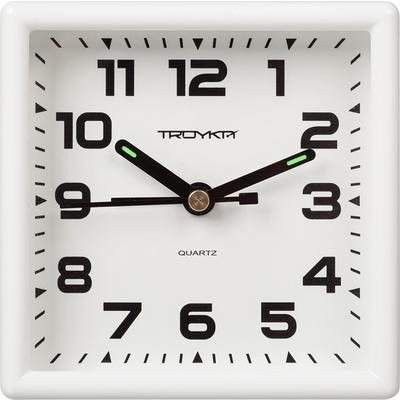 Часы-будильник Troyka 08.10.801 (9.5х9.5х4.5 см)
