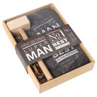 Набор кухонный Super man (варежка-прихватка, молоток деревянный)