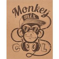 Тетрадь общая №1 School Monkey А5 48 листов в клетку на скрепке