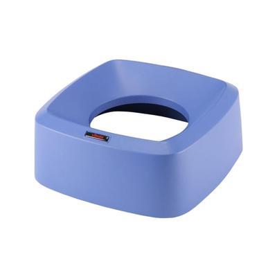 Крышка для контейнера Vileda Ирис воронкообразная прямоугольная синяя