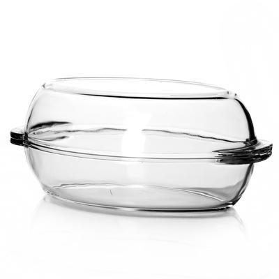 Форма для запекания Pasabahce с крышкой стеклянная овальная 335x190x120 мм 2 л (артикул производителя 59022)