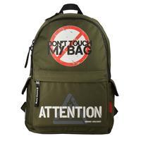 Рюкзак Молодежный Не Прикасайся! темно-зеленый