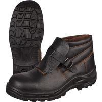 Ботинки сварщика утепленные натуральная кожа черные с металлическим подноском размер 44