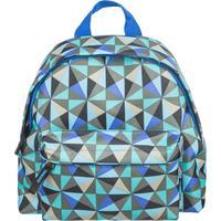 Рюкзак детский №1 School Треугольники голубой