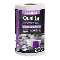 Салфетка хозяйственная Qualita Giga вискоза 200 листов в рулоне