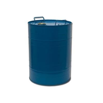 Бочка стальная 50 л синяя с пробками