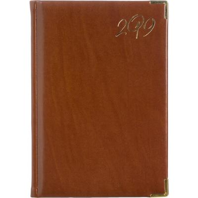 Ежедневник датированный на 2019 год Attache искусственная кожа A5 176 листов коричневый (148x218 мм)