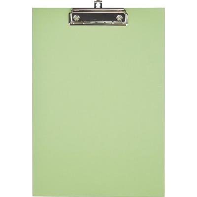 Папка-планшет с зажимом Комус A4 светло-зеленая