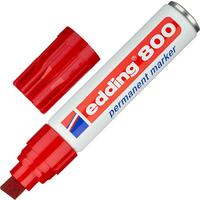 Маркер перманентный Edding 800/2 красный (толщина линии 4-12 мм) скошенный наконечник