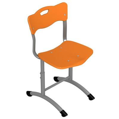 Стул ученический Stand-up (оранжевый/серый, рост 3-5)