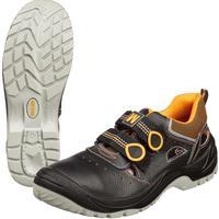Полуботинки с перфорацией (сандалии) Мистраль Ultra натуральная кожа черные размер 38